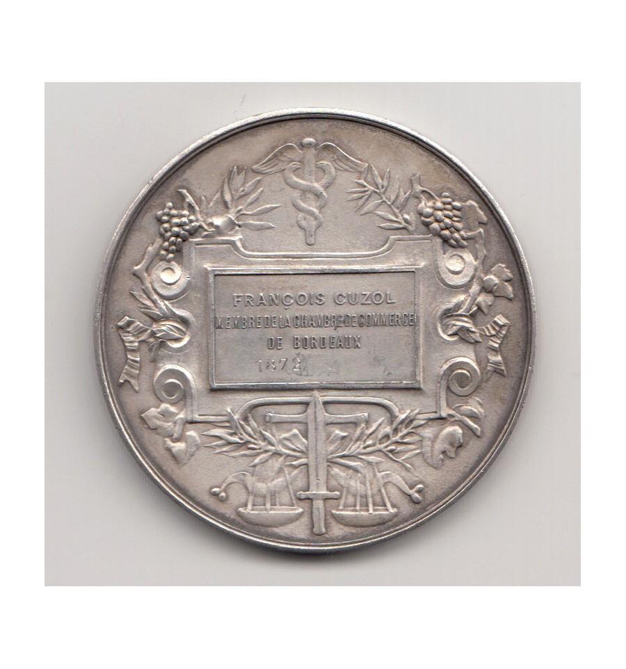 Chambre de commerce de bordeaux 1872 jetons et medailles for Chambre de commerce de