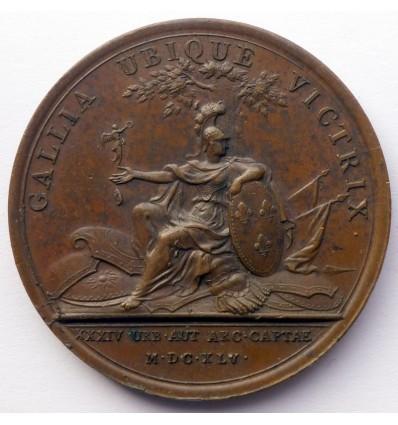 Louis XIV prise des trente-quatre villes 1645