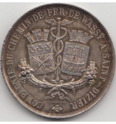 Jeton compagnie du chemin de fer de Wassy à Saint-Dizier 1865
