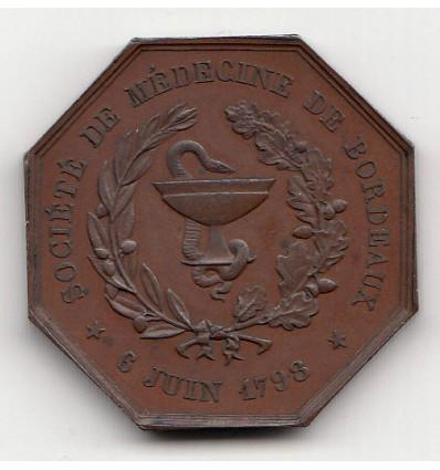 Jeton société de médecine de Bordeaux 1853