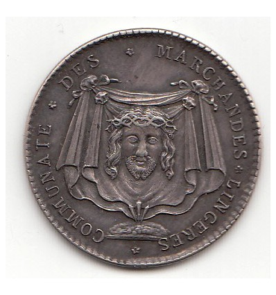 Jeton Louis XV corporation des lingères s.d.
