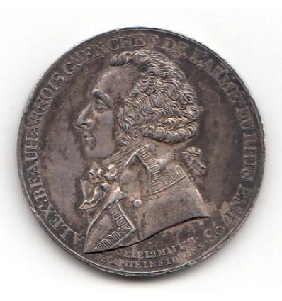 Convention Alexandre de Beauharnais, général en chef de l'armée du Rhin 1793