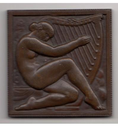Femme à la harpe par Marcel Renard s.d. ( 1927 )