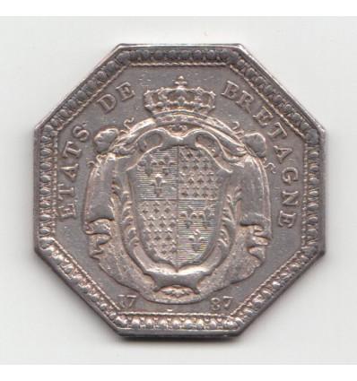 Jeton Louis XVI Etats de Bretagne 1787
