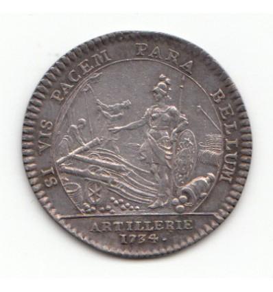 Jeton Louis XV artillerie 1734