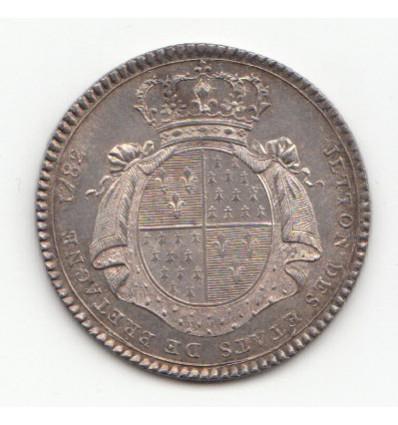 Jeton Louis XVI Etats de Bretagne 1782