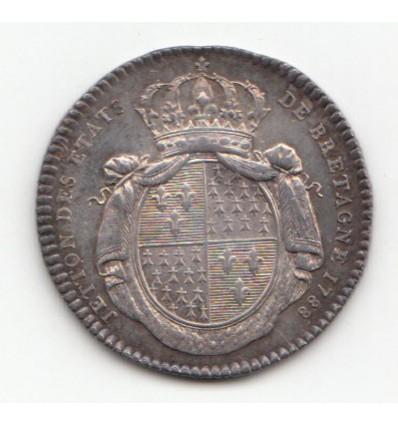 Jeton Louis XVI Etats de Bretagne 1788