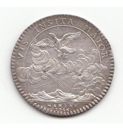 Jeton Louis XV marine 1756