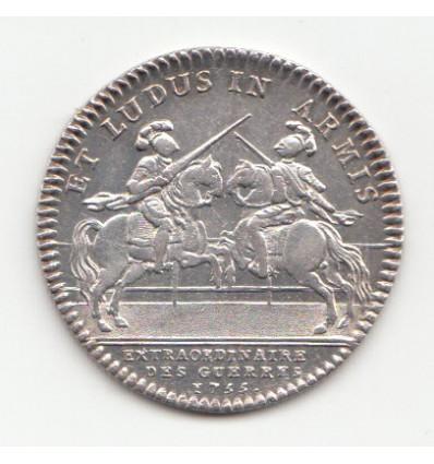 Jeton Louis XV extraordinaire des guerres 1755