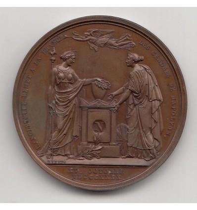 Retour des cendres de Napoléon I, remises par l'Angleterre au Prince de Joinville 1840
