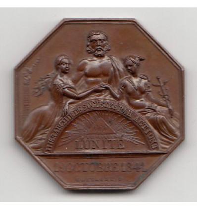 Jeton assurances l'Unité, comptoir de Bar-Le-Duc 1847