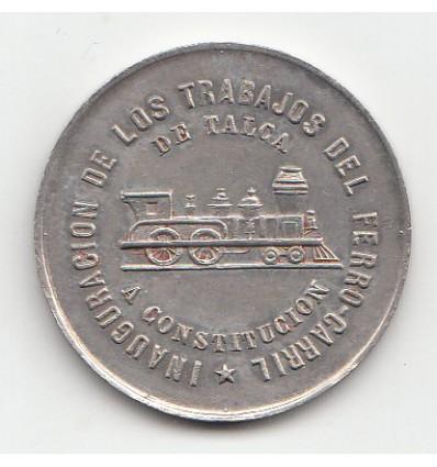 Chili ligne ferroviaire Talca-Constitution 1888