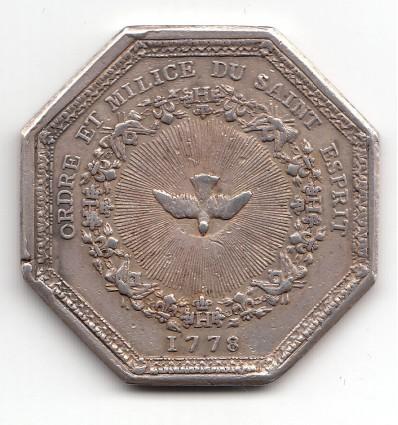 Jeton Louis XVI ordre du Saint-Esprit 1778