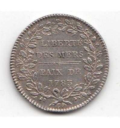 Jeton Louis XVI Amérique liberté des mers 1783