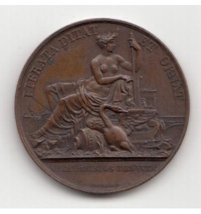 Jeton Compagnie des canaux de Paris 1818