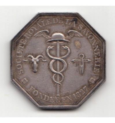 Jeton Charles X société royale de savonnerie 1827