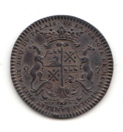 Jeton Nicolas Lambert, prévôt des marchands de Paris 1725
