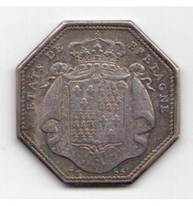 Jeton Louis XVI Etats de Bretagne 1785