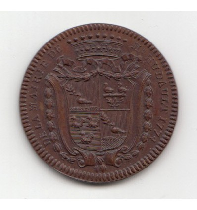 Jeton aux armes d'Hurtault, maire d'Orléans 1774