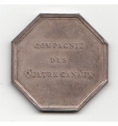 Jeton compagnie des quatre canaux 1822