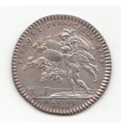 Jeton Louis XV marine 1758