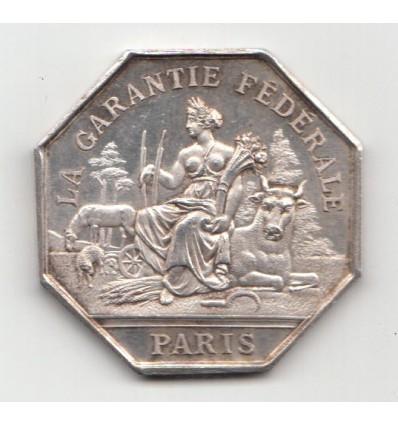 Jeton assurances la garantie fédérale 1865