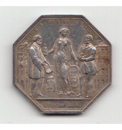 Jeton assurances la Clémentine 1858