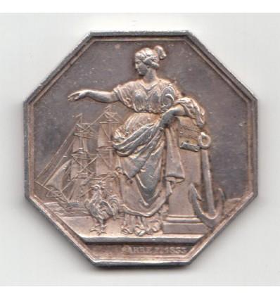 Jeton assurances maritimes Lloyd français 1832