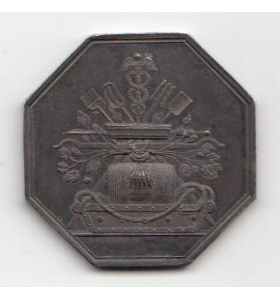 Jeton assurance mutuelle de la brasserie 1846