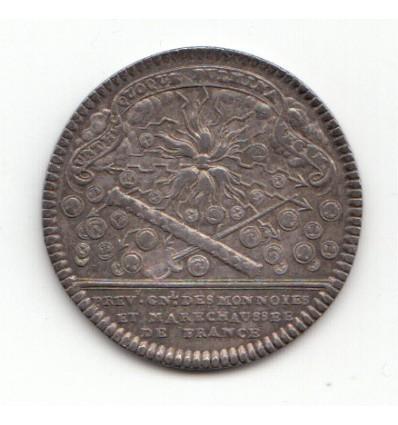 Jeton Louis XV prévôts généraux des monnaies s.d.