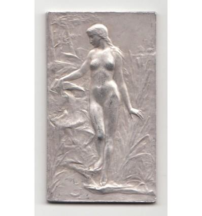 Source et enfant pêcheur par Georges-Henri Prud'homme 1904