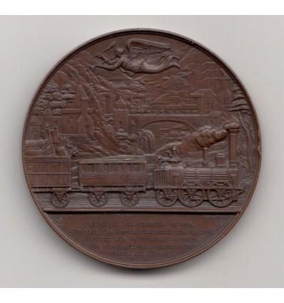 Glorification des chemins de fer par Caqué 1843