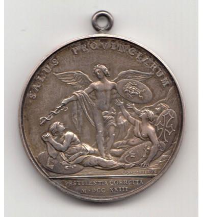Louis XV fin de la peste en Provence 1723
