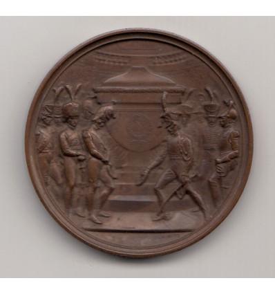 Hommage à Napoléon I  par Bovy 1861