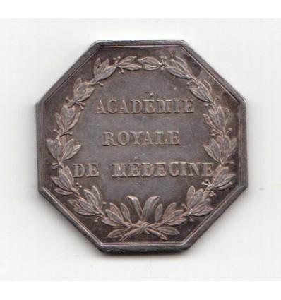 Jeton Louis XVIII académie royale de médecine s.d.