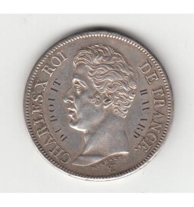 Médaille de mariage sur 5 francs Charles X 1826