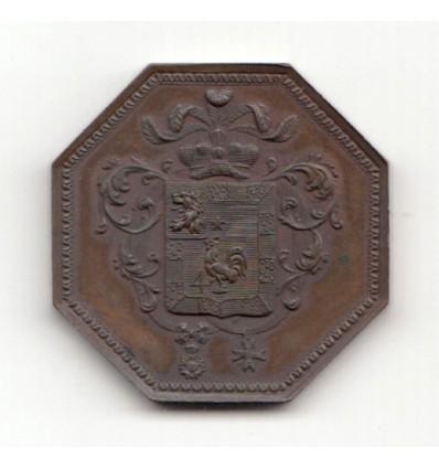Jeton  aux armes de Regnaud de Saint-Jean d'Angély, ministre d'état sous l'Empire s.d.