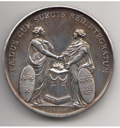 Suède Gustave V visite la banque des pays du Nord 1913