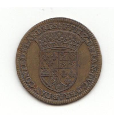 Jeton aux armes de François, duc d'Alençon et comte de Flandres s.d. ( 1582 )