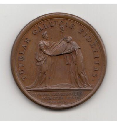 Louis XIV Rétablissement de l'Electeur de Trèves par Mauger 1645