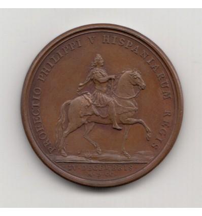Louis XIV Départ de Philippe V, roi d'Espagne par Mauger 1700
