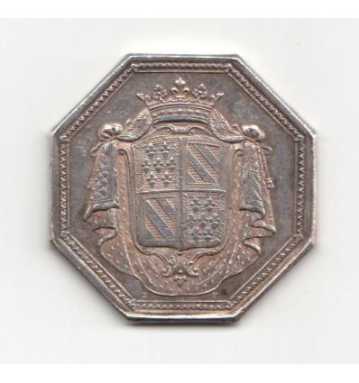 Jeton Etats de Bourgogne aux armes de Mr de Chilleau, évêque de Chalon-sur-Saône 1789