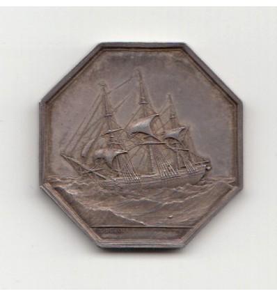 Jeton Compagnie bordelaise de prêts à la grosse 1843