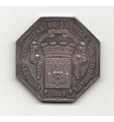 Jeton Charles X conseil municipal de la ville de Bordeaux 1828