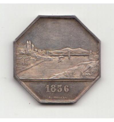 Jeton Pont de Beauregard ( Ain ) 1836
