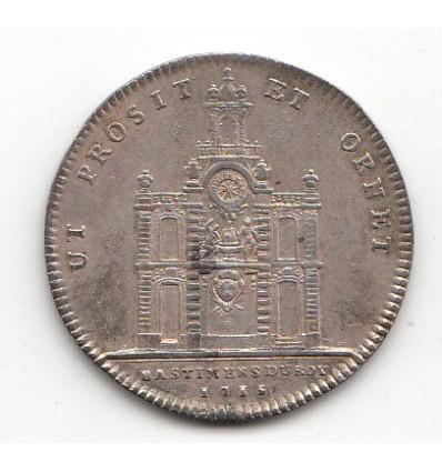Jeton Louis XIV bâtiments du roi pavillon de la Samaritaine 1715