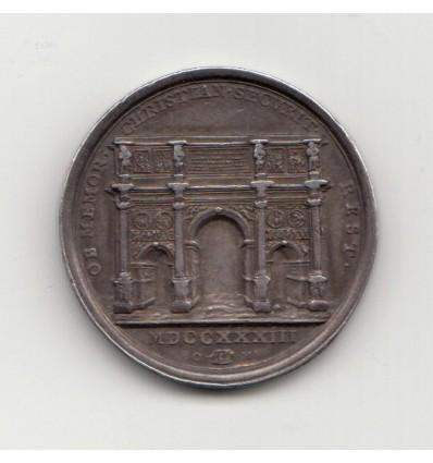 Italie Etats pontificaux Clément XII, restauration de l'arc de triomphe de Constantin 1733