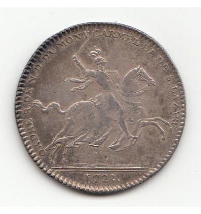 Jeton Ordre du Mont-Carmel Louis duc d'Orléans 1723