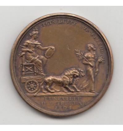Paix de Lunéville par Abramson 1801