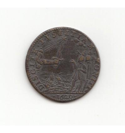 """Jeton Louis XIII """" discite iustitiam moniti """" 1620"""